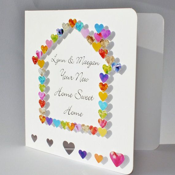 Handmade New Home Card Personalised Welcome To Your New Home