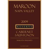 Maroon 2009 Cabernet Sauvignon, Reserve, Maroon Vyd.,Napa Valley at WineExpress.com