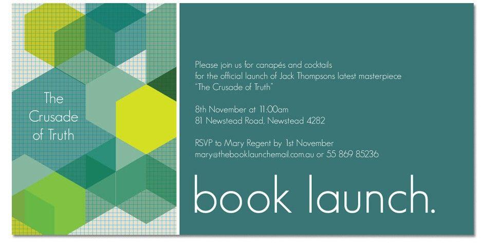 Book Launch Invitation Cards - Free Custom Invitation Template Design | Verrado Drift