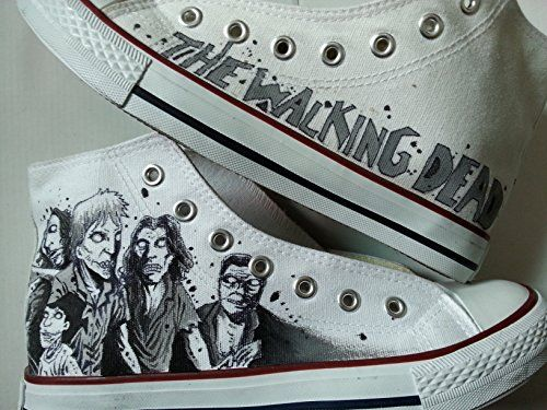 97597560bed7 Walking Dead Painted Shoes Custom Hand Painted Shoes for Kids women men  MyPaintedShoes http