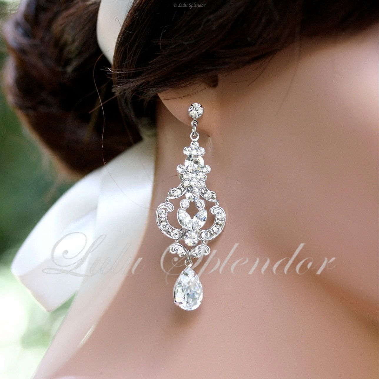 Vintage Bridal Earrings Chandelier Wedding earrings ...