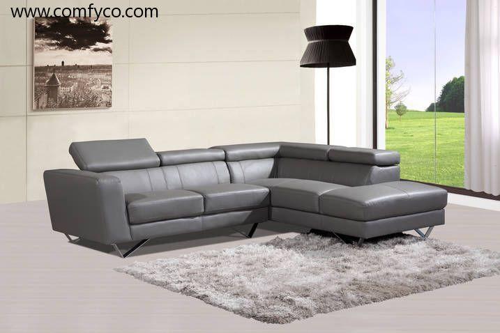 Enjoyable Ah6201 Gray Sectional Sofa Basements Leather Sectional Creativecarmelina Interior Chair Design Creativecarmelinacom