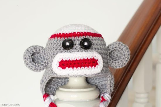 Sock monkey crochet pattern monkey socks and crochet sock monkey crochet pattern baby hat dt1010fo
