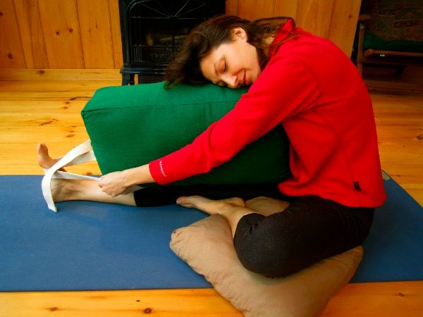 Restorative yoga is wonderful to get more flexible, wring ...