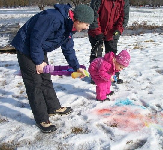 Snow art at Chilly Willy Day January