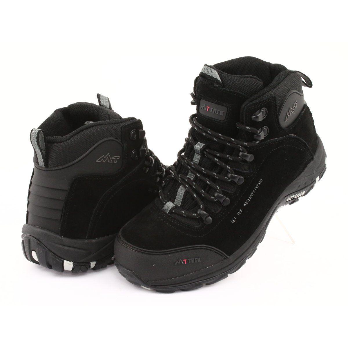 Trapery Z Membrana Mttrek 031 Czarne Women Shoes Boots Suede Leather