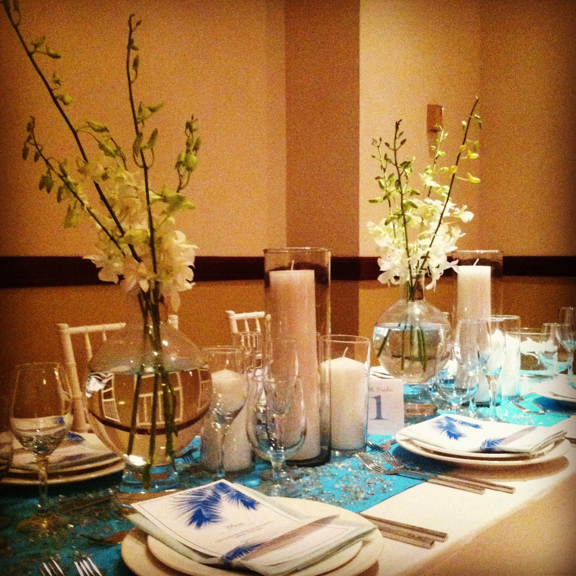 Wedding decor images  Sea glass wedding decor  Wedded Bliss  Pinterest  Sea glass