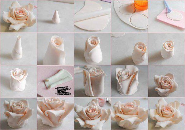 Как сделать из глины розочку фото 410