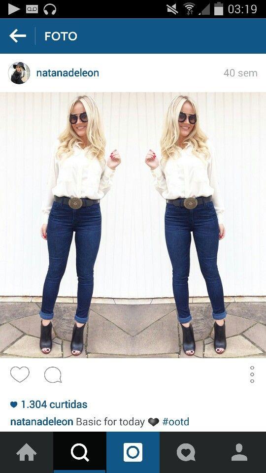 jeans skinny + camisa soltinha