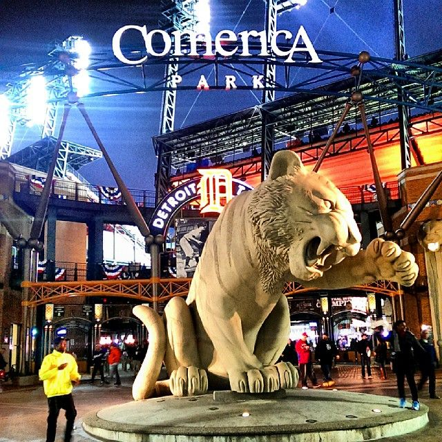 Catch A Baseball Game At Comerica Park Home Of The Detroit Tigers Opening Day