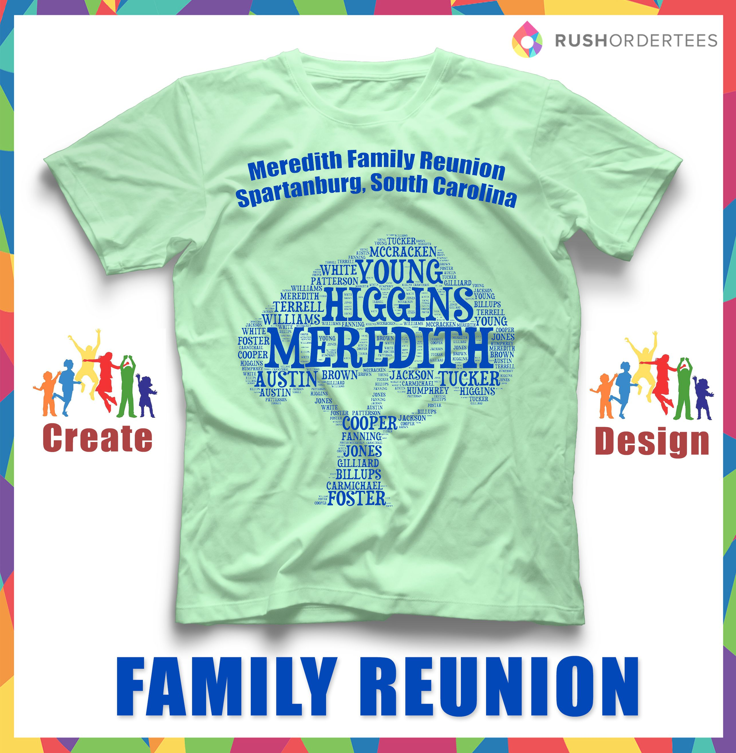 Design your own t-shirt for family reunion - Fast Custom Reunion T Shirts Online Create Your Personalized Design With Our Design Studio Easy To Use Templates Or Let Us Design For Free