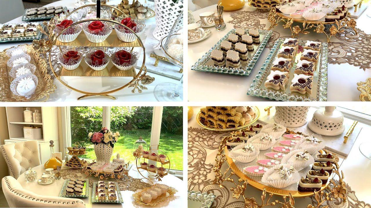 Dressage Et Decoration Des Gateaux De L Aid 2020 تزيين طاولة حلويات عيد الفطر Youtube In 2021 Decor Dressage Table Decorations
