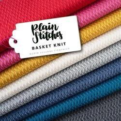 Photo of Jersey Gots Chevron / Zick-Zack blau – Plain Stitches Basket Knit Jersey Gots – petrol | Hamburger L