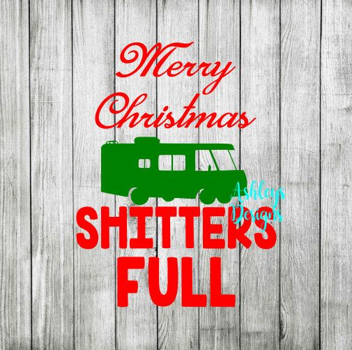 Merry Christmas Shitters Full SVG File by TheSVGcorner on Etsy