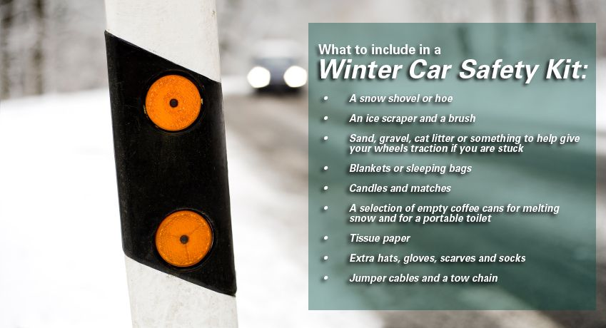 Winter car safety kit list