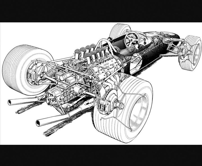 Fascinating F1 Facts Car illustration, Technical