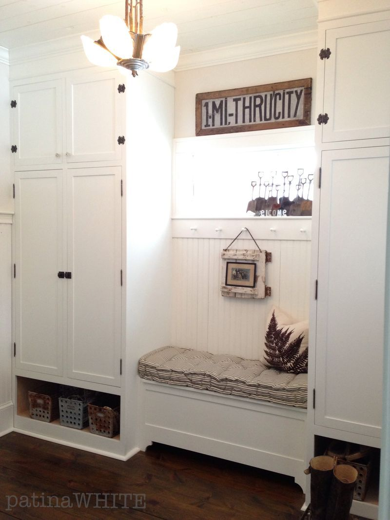 Matching Closets Connected With A Secret Storage Bench