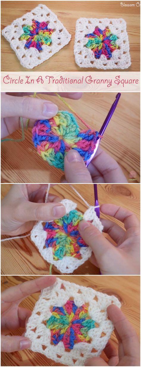 Encantador Los Patrones De Crochet Libre Cuadrado De La Abuelita ...