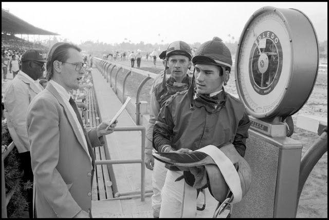 Jockeys Corey Nakatani and Chris McCarron at Santa Anita.
