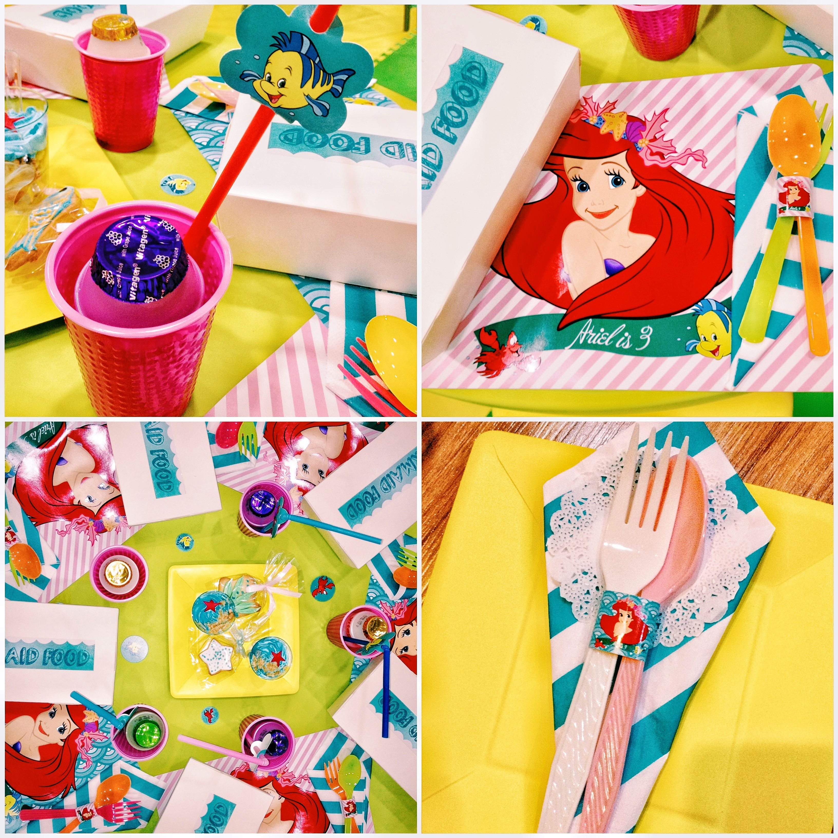 kids table set up, little mermaid themed party #birthday | Party Set ...