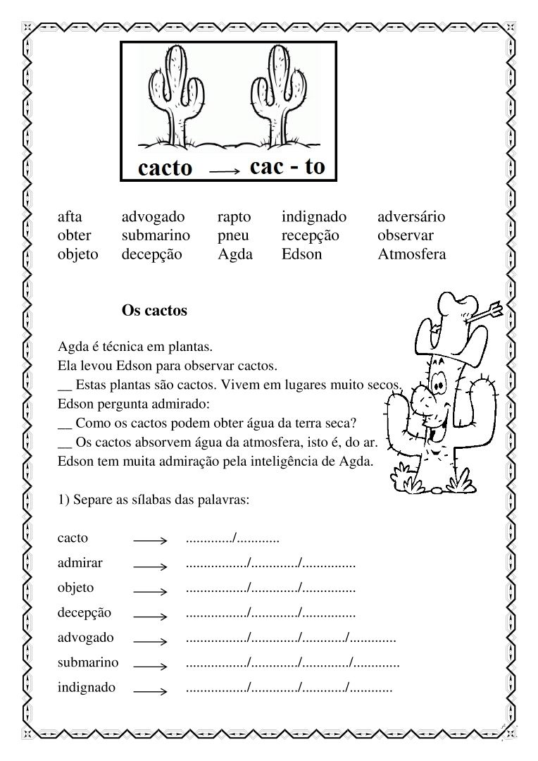 Apostila De Leitura Atividades Alfabetizacao E Letramento