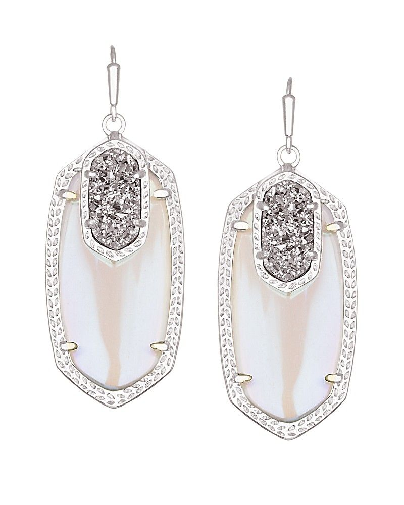 Emmy Drop Earrings In Platinum Orbit  Kendra Scott Jewelry