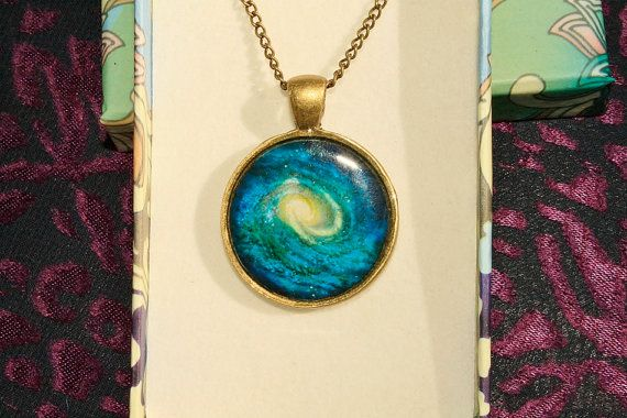 Space Pendant in Brass by wildflowers12 on Etsy, $18.00
