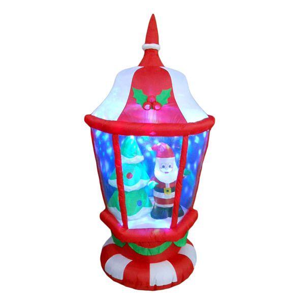 6\u0027 Inflatable LED Lantern with Santa and Tree Cool LED Christmas