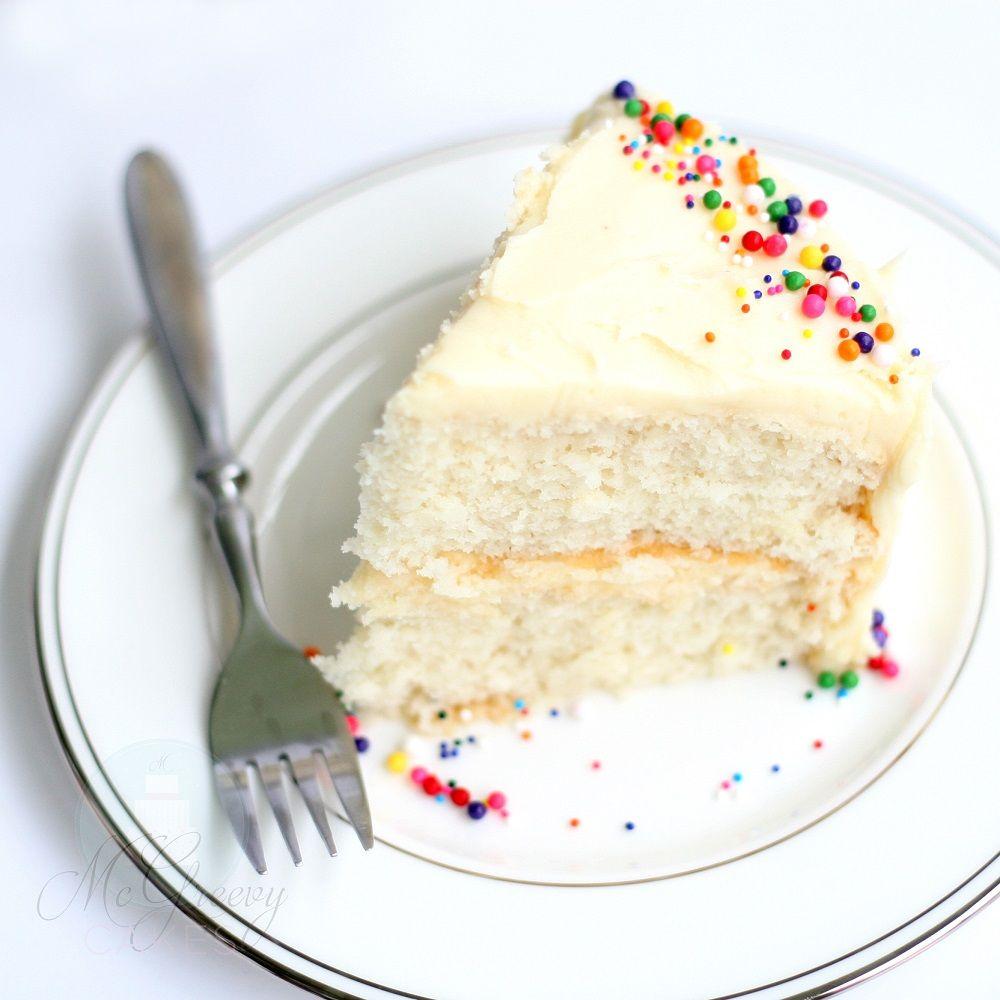White Almond Or Vanilla Sour Cream Cake Wasc Mcgreevy Cakes Sour Cream Cake Vanilla Cake Recipe With Sour Cream Recipes Using Cake Mix