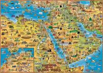 ILLUSTRATED MAP OF THE ISLAMIC WORLD | MAPS | Pinterest ...
