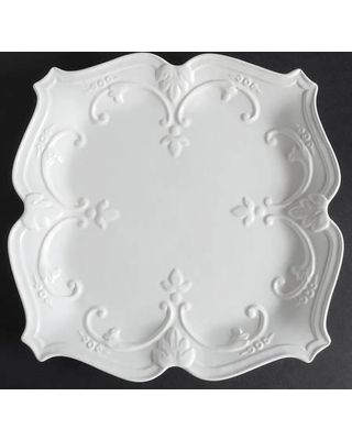 Sweet Olive Designs Fancy Scroll-White Square Dinner Plate - All WhiteEmbossed Scrolls\u0026Dots  sc 1 st  Pinterest & Sweet Olive Designs Sweet Olive Designs Fancy Scroll-White Square ...