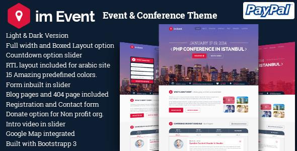 Imevent Conference Meetup Wordpress Theme Corporate Wordpress Themes Conference Themes Wordpress Template