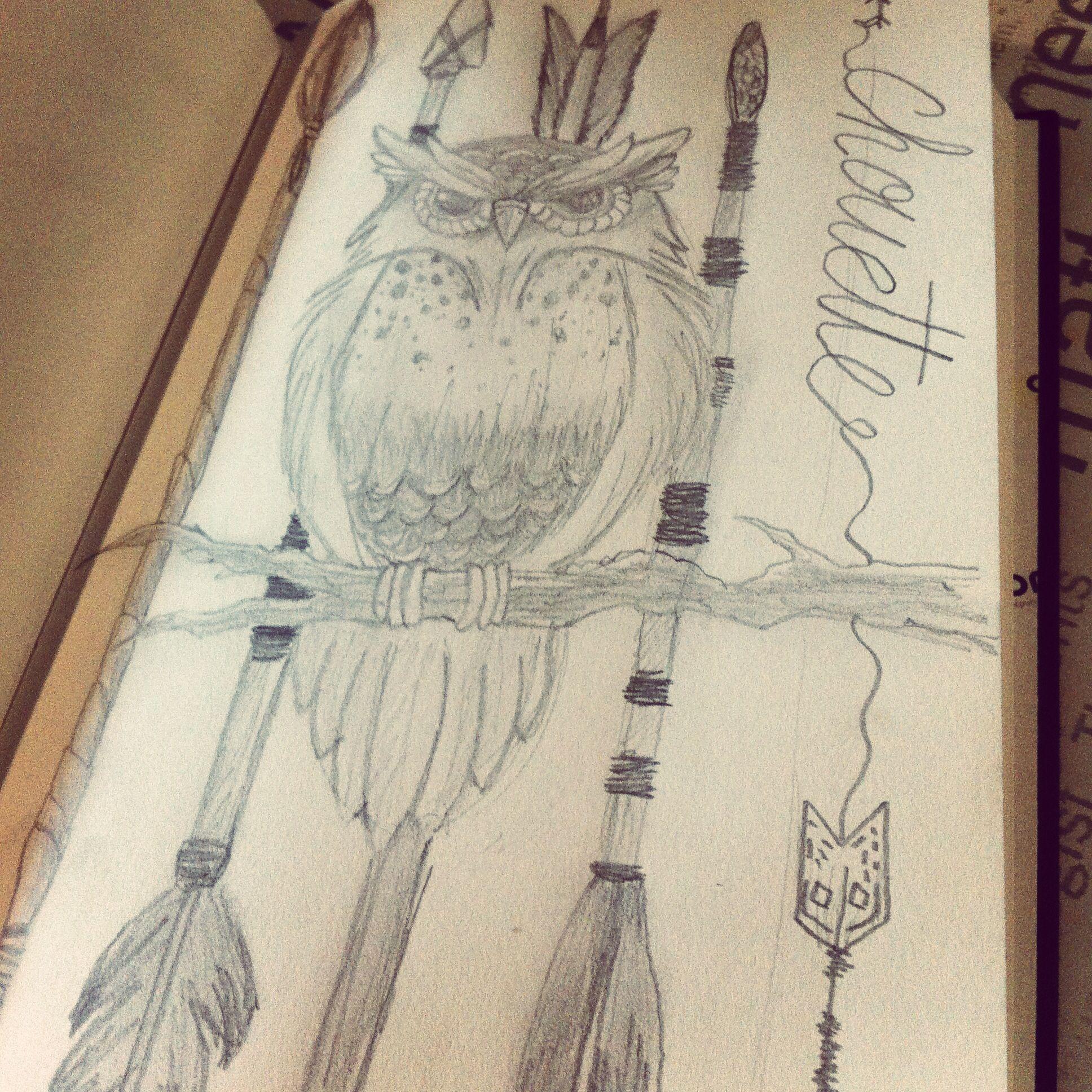 Petit dessin fait en une demie heure ! Owl