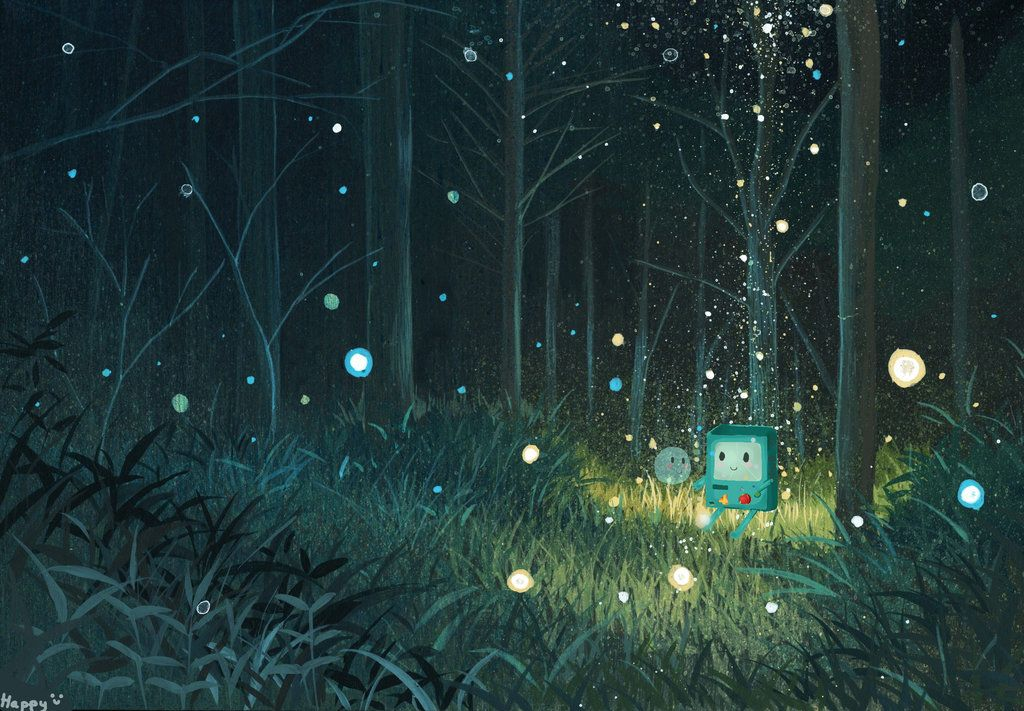 Bmo Lost By Imhappywithyou Anime Scenery Night Landscape Anime Background