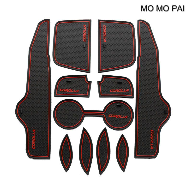 Momo Pai Car Accessories Door Slot Fit For Toyota Corolla 2009 2010 2011 2012 2013 Non Slip Door P Car Interior Accessories Toyota Corolla Interior Accessories