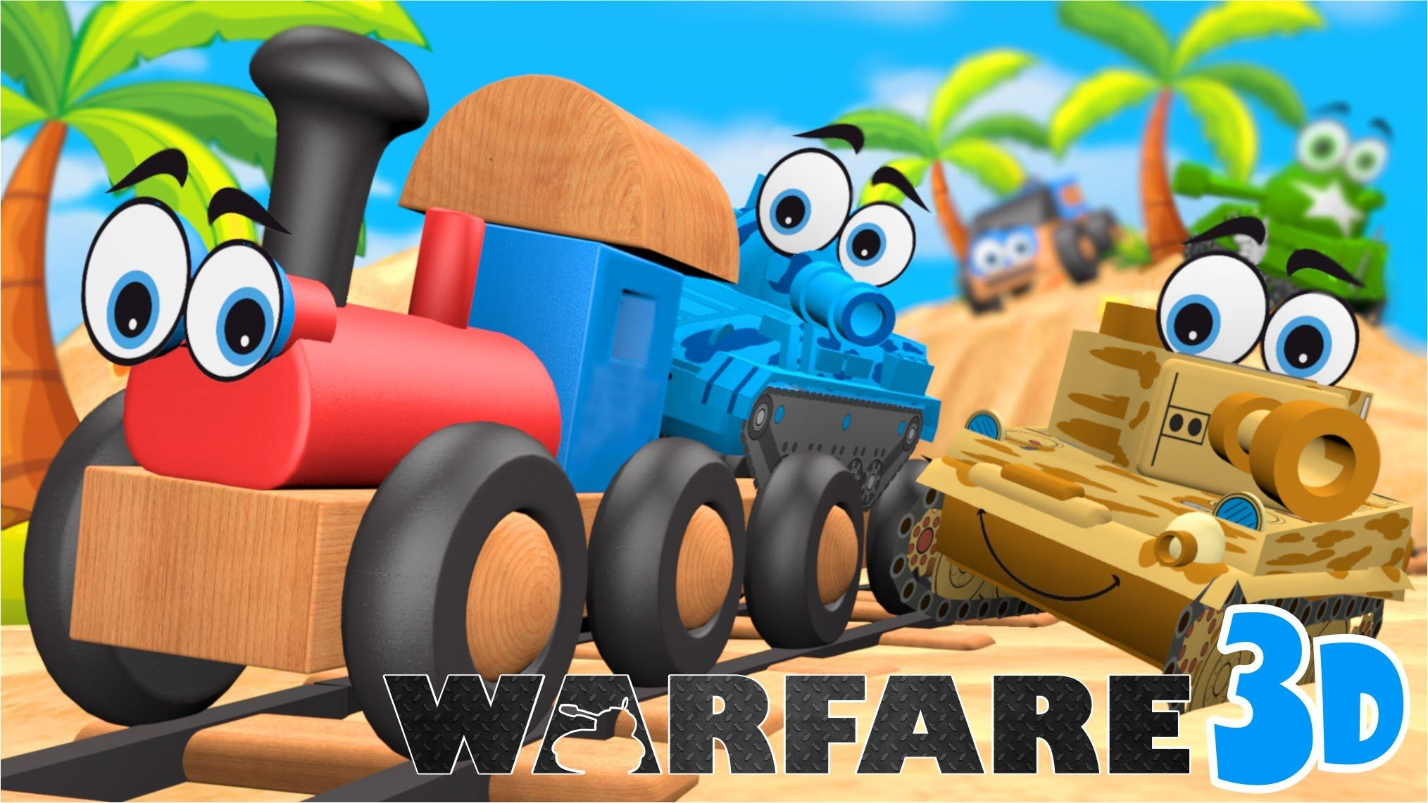 Uncategorized Cartoons Video cartoons warfare 3d tropical vacation cartoon about cars vs tanks