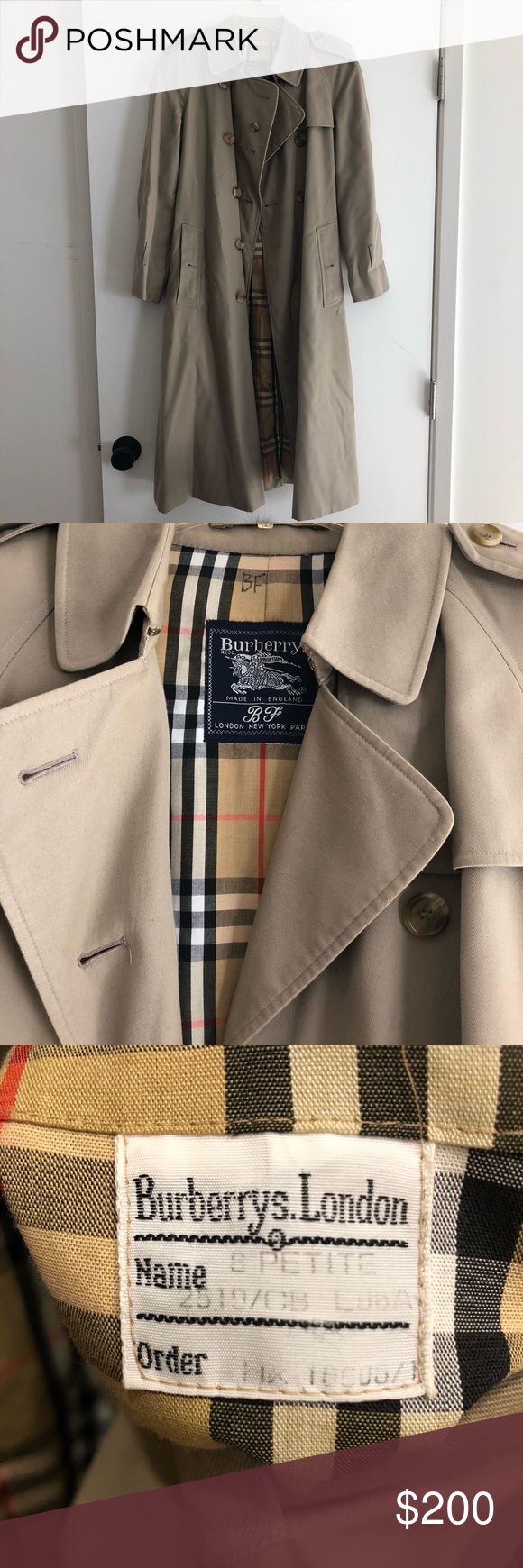 Vintage Burberry Trench Coat Burberry Trench Coat Burberry Trench Trench Coat