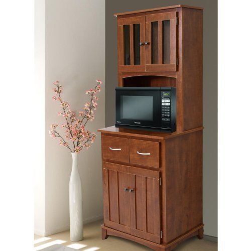 Kitchen Hutch Microwave Stand Island Buffet Cabinet Cart Storage Utility  Shelf #KitchenHutchMicrowaveStand