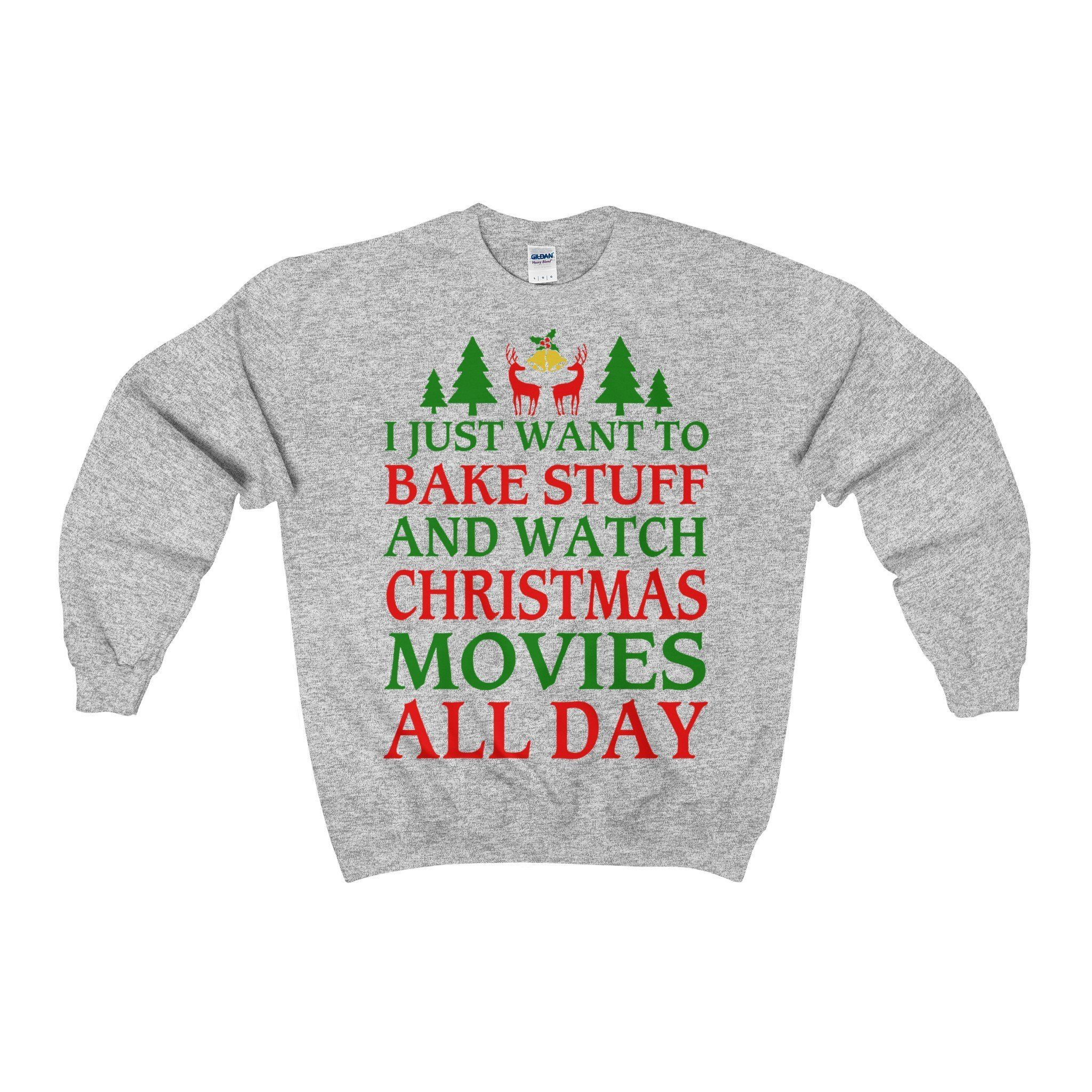 Bake Cookies and Watch Christmas Movies Ugly Christmas Sweater ...