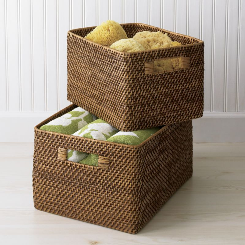 Sedona Honey Totes Crate And Barrel Crate And Barrel Storage Baskets Basket And Crate