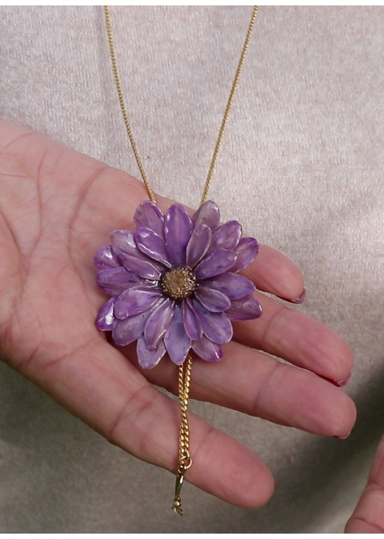 Pink Necklace Pink Flower Pendant Necklace For Women Real Etsy Real Flower Jewelry Flower Jewellery Pink Necklace