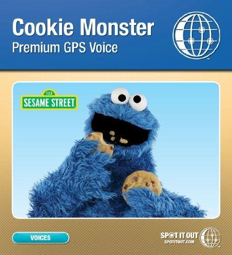 Sesame Street Cookie Monster GPS Voice for Garmin (Mac only