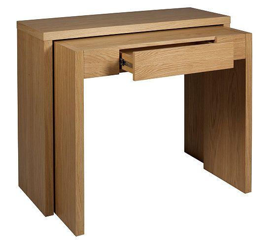 tables d 39 appoint et consoles console gigogne sybille ch ne d coration int rieure pi ce. Black Bedroom Furniture Sets. Home Design Ideas