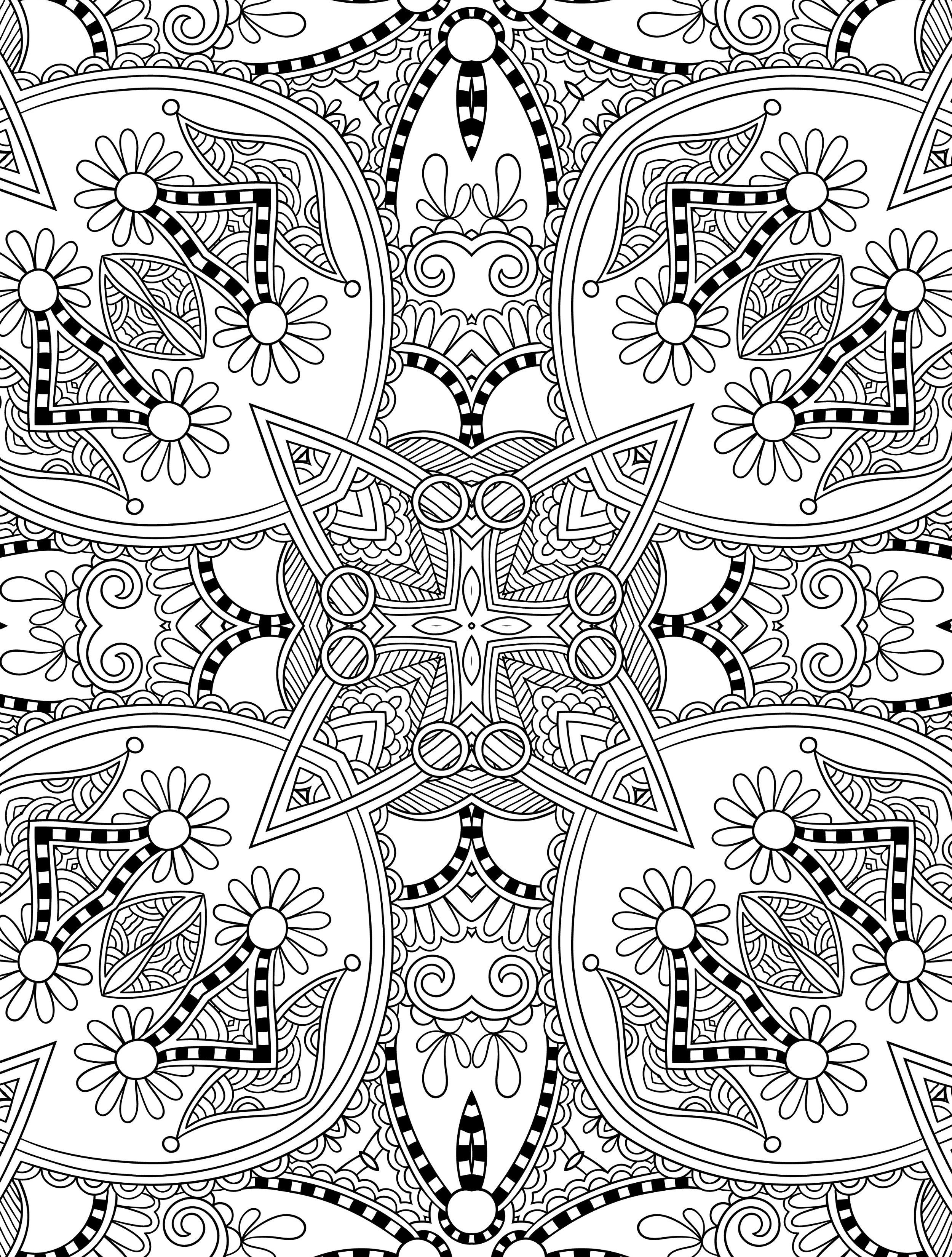 Abstract Doodle Zentangle Paisley Coloring Pages Colouring Adult