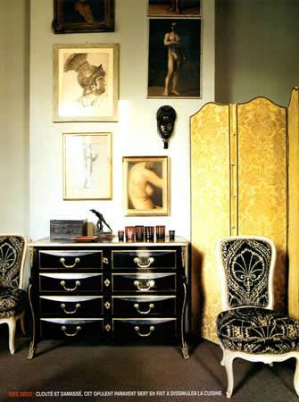 black and white and gold ~ Sig Bergamin design | Beautiful Interiors ...