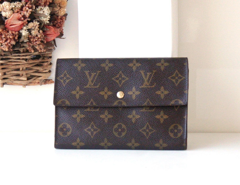82682e608eef Louis Vuitton Wallet Monogram POCHETTE PASSEPORT Large Trifold Purse by  hfvin on Etsy  louisvuitton