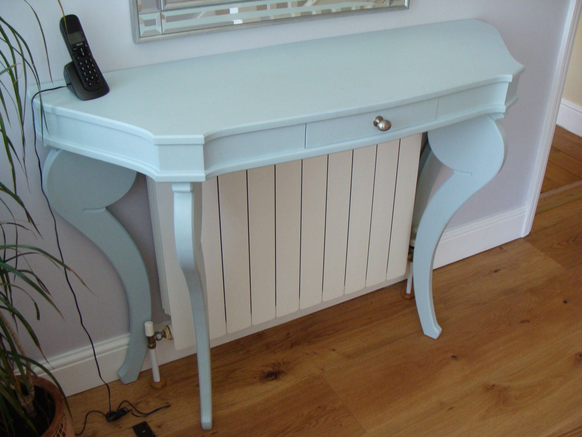 Marvelous Hall Table, Radiator Cover Solution.