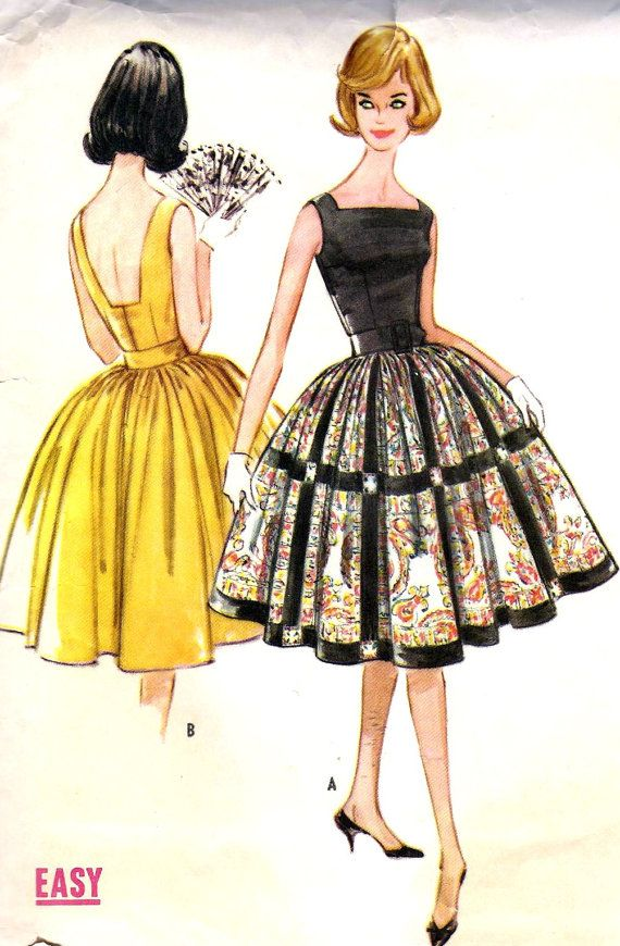 1960s Misses Dress with Attached Petticoat