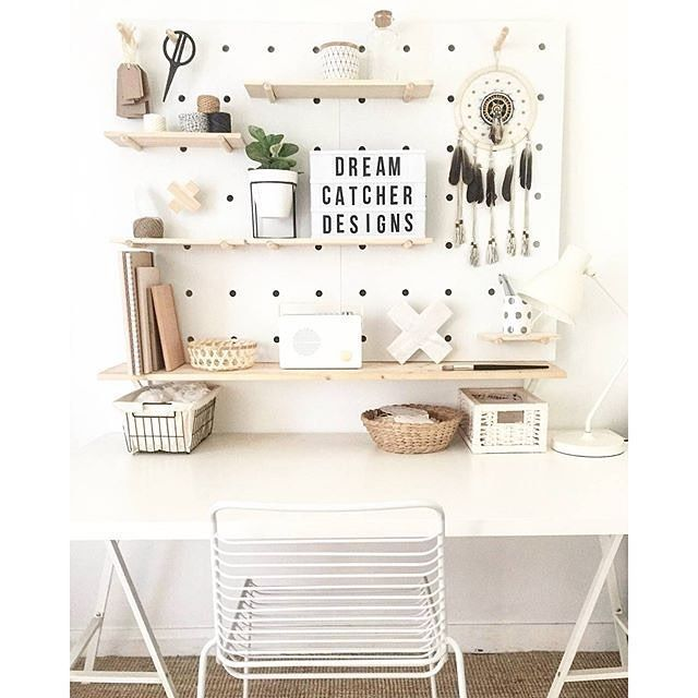 Find This Pin And More On Office. By Jessicanuzum. Pegboard Workspace Idea  ...