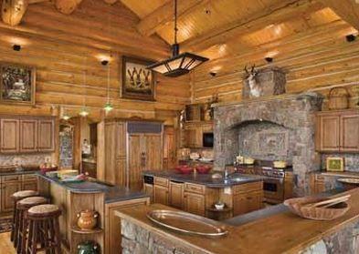 Hunting Lodge Kitchen I Like Log Cabin Kitchens Log Home